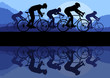 Sport road bike riders bicycle silhouettes