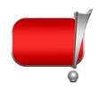 Anzeigenschild rot