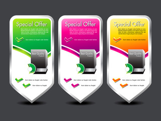 abstract colorful special offer banner