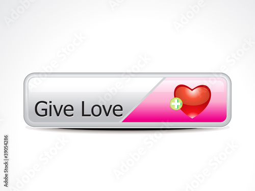 abstract give love button