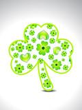 abstract green clover