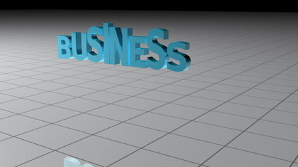 Business lettering falling apart