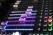Slider of Sound Mixer with Light