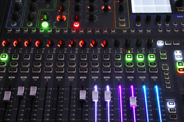 Sound Mixer System with Light on Operating