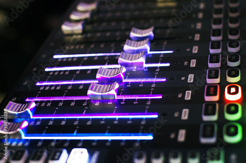 Slider of Sound Mixer with Light
