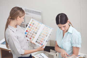 Interior designers at work