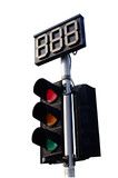 Traffic Light on White Background