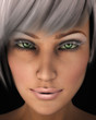 Beautiful Woman's Face Close-up Illustration