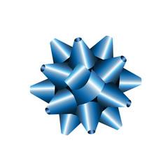 Blaue gebundene Geschenkschleife