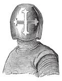 Hughes Helmet Viscount de Chalons vintage engraving poster