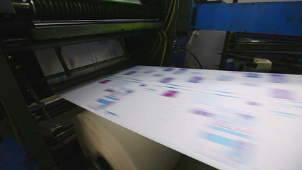 print shop typography machine work with color