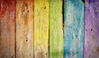 Old wooden plank rainbow background
