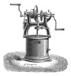 Spin dryer vintage engraving