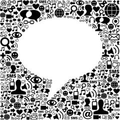 Social media talk bubble isolated