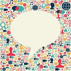 Social media speech bubble texture