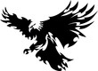 Eagle Mascot Flying Wings  Des...