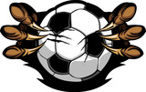 Soccer Ball With Eagle Talons Vector Image