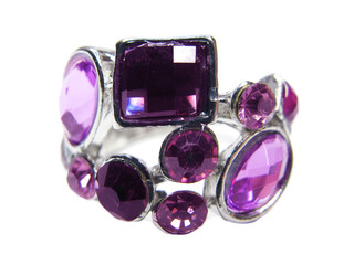 jewelry ring with bright crystals