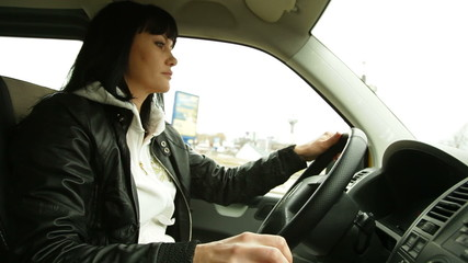 Woman At The Wheel