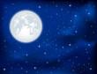 Night sky and Moon