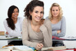 University students at desks