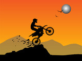 Motocross background, vector illustration