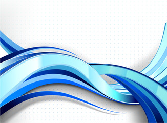 Stylish abstract wave flow.