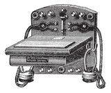 Fig. 6. - Telephone-Bell Ader, vintage engraving.