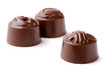 Group of three chocolate candies
