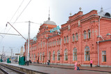 Railway station of a city of Kazan in Russia