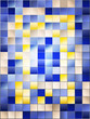 stained glass texture, blue background