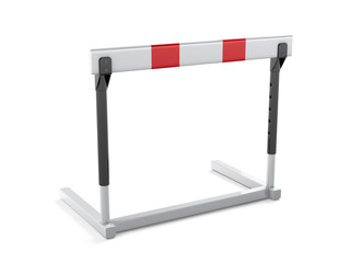 Athletics hurdle isolated on white background - 3d render