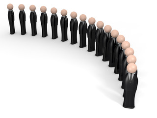 omini in fila