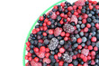 Frozen mixed fruit in bowl - berries