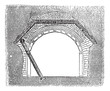 Concrete Tunnel, vintage engraving