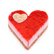 isolated heart shaped pastry