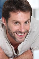 Closeup of a smiling happy chap