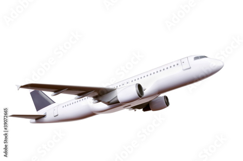 commercial plane model isolated on white