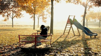 child alone in a park