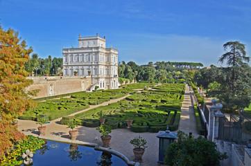 panorama di villa pamphili  a roma