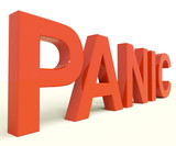 Panic Word As Symbol for Emergency And Stress