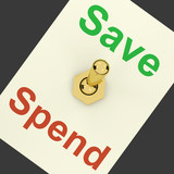 Save Switch On As Symbol For Discounts Or Promotion