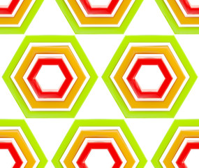 Seamless background texture made of hexagons