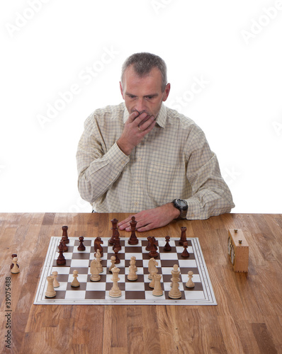 The chess player is making a big mistake