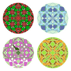 Set of colorful round ornament