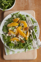 Orange, walnut and Stilton salad