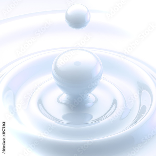Light background: cream liquid drop