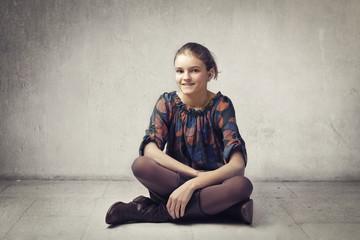 Smiling teen