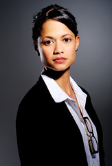 Confident serious businesswoman