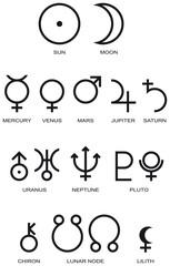 Planeten Symbole Astrologie
